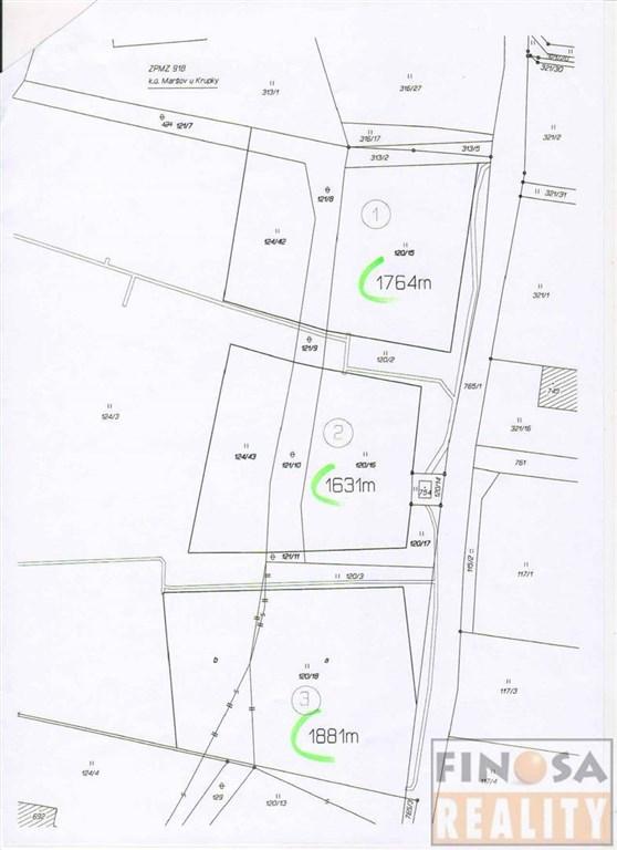Na prodej tři stavební pozemky v Maršově u Krupky, okres Teplice