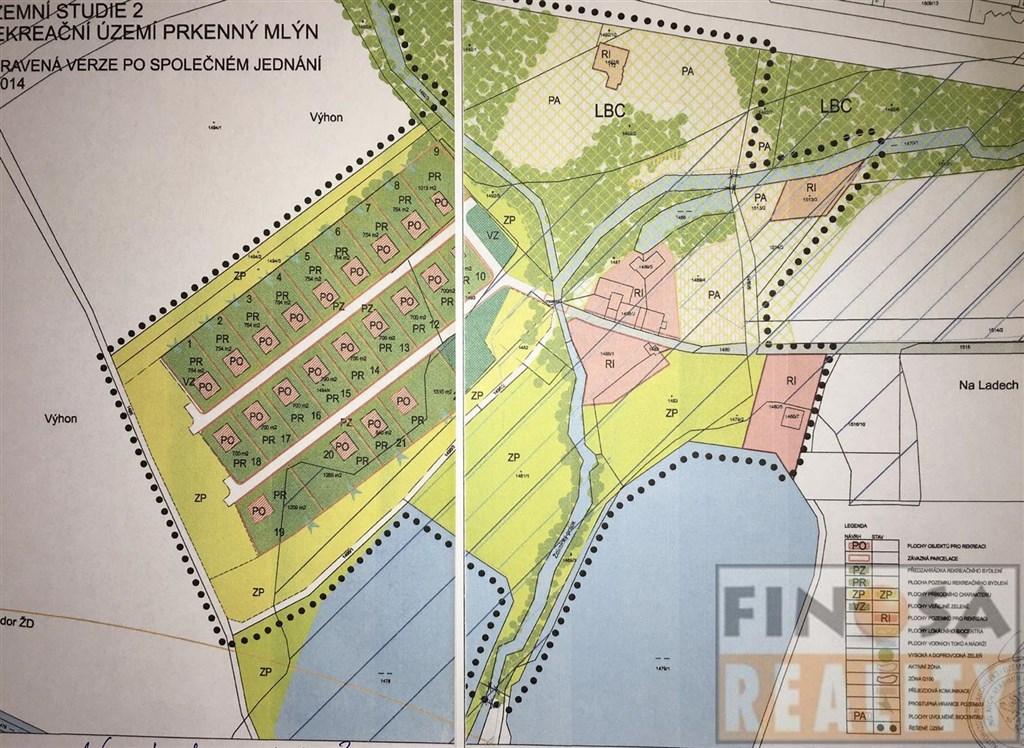 Pozemky pro výstavbu rekreačních domů v Chabařovicích