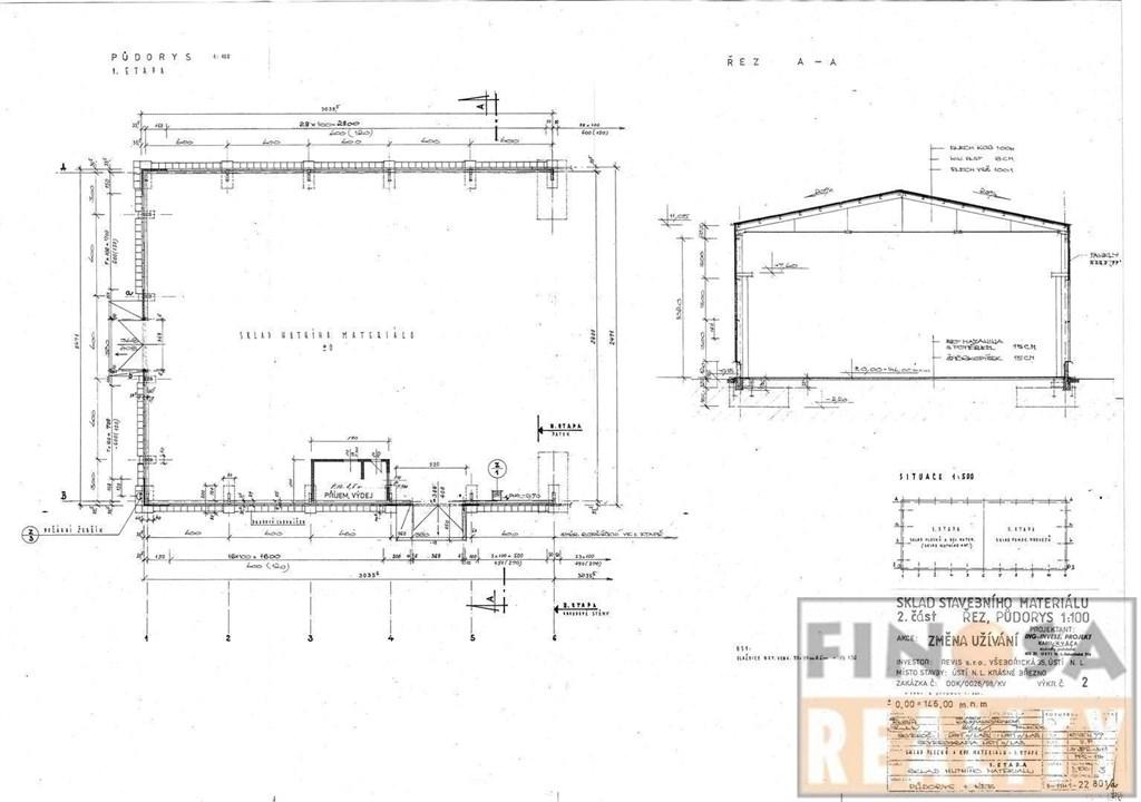 Skladové prostory o výměře od 250 m2 k pronájmu v Ústí nad Labem, Krásné Březno, ul. Drážďanská