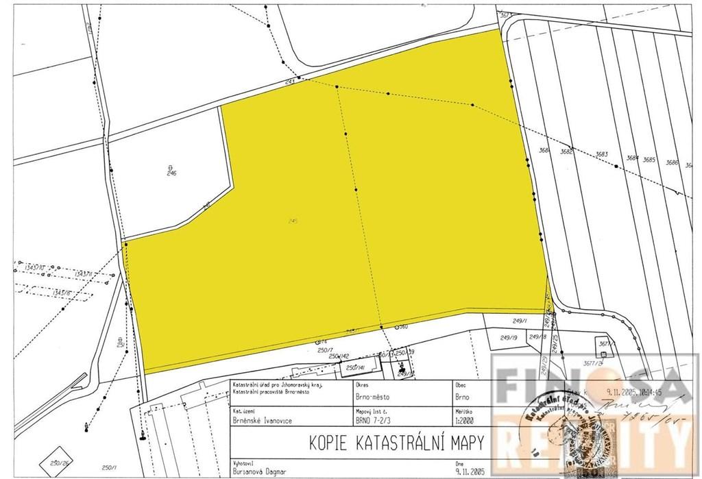 Pozemky ke komerčnímu využití u dálnice D1 v Brně