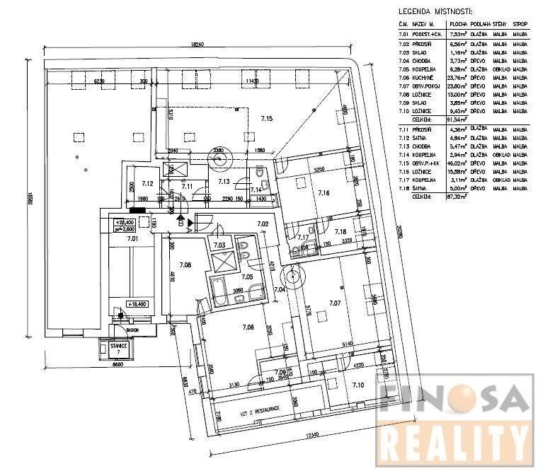 Půdní prostor pro výstavbu dvou bytových jednotek v Praze – Horní Holešovice